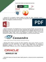 Principales Motores de Bases de Datos