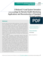 Personalized Reduced 3-Lead System formation methodology for Remote Health Monitoring Applications and Reconstruction of Standard 12-Lead system