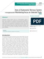 Perspectives of Autonomic nervous system Perioperative monitoring-focus on selected tools