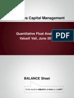 Rubalcava Capital - Quantitative Float Analysis