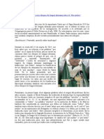 Carta de Benedicto XVI a Los Obispos de Lengua Alemana Sobre El