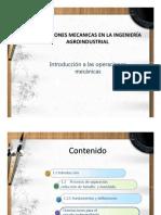 Operaciones Mecanicas en La Ingenieria Agroindustrial