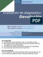Devolución diagnóstico