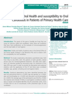 Profile of Oral Health and susceptibility to Oral Candidiasis in Patients of Primary Health Care
