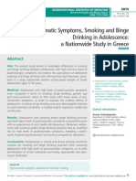 Psychosomatic Symptoms, Smoking and Binge Drinking in Adolescence