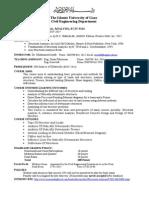 Structure Analysis I Syllabus 2014 2015