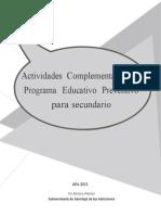 Actividades Complementarias Programa Educativo Preventivo Para Secundaria