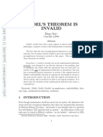 Saa. Goedel's Theorem is Invalid (Article)