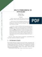 Saa. Goedel's Theorem is Invalid (Article)