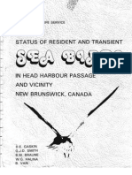 STATUS OF RESIDENT AND TRANSIENT SEA BIRDS IN HEAD HARBOUR PASSAGE AND VICINITY NEW BRUNSWICK, CANADA, 1977