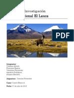 Trabajo Investigación Parque Nacional El Lauca