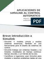 Aplicaciones de Simulink Al Control Automatico