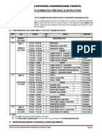 2015 Kcpe Time Table