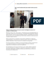 27-07-15 Policía de proximidad, será fundamental para abatir delincuencia señala Maloro Acosta