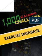 1000 Calorie Challenge Exercise Database