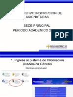 Instructivo Inscripcion Asignaturas 201510