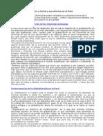 Globalización Económica y Social y Sus Efectos en El Perú