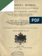 Metodo Cortina Español-Ingles 20 Lecciones