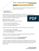 Present Perfect Experience lesson plan