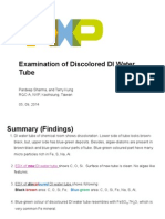 Discolored DI Water Tube Contamination Findings 9 Sep 2014