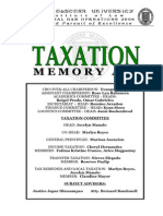Taxation Law Reviewer Feu