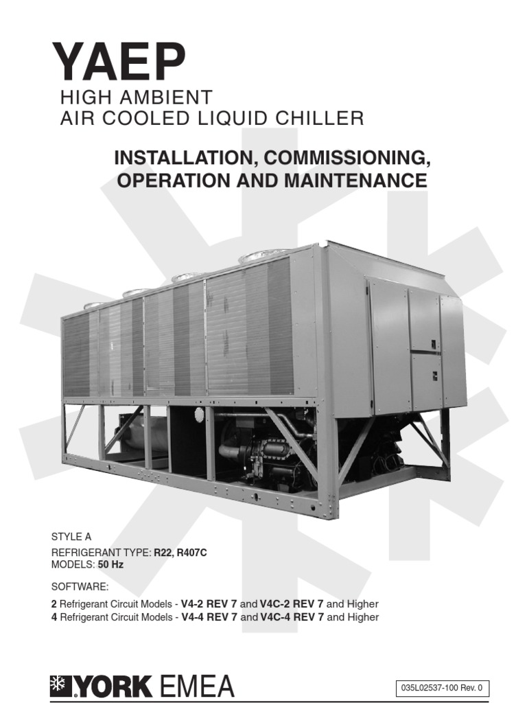 high ambient air cooled liquid chiller