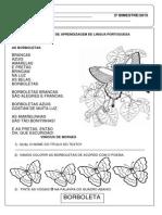 Prova II Bimestre de Língua Portuguesa ( PRÉ- ESCOLAR)