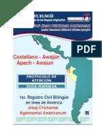 Protocolo Castellano Awajun 2015