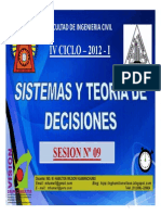 CLASE 9 TEORIA DECISIONES 2015