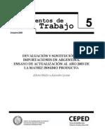 4 Dev y Sust de Importaciones en Argentina MIP 2003