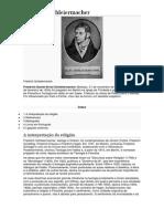 Friedrich Schleiermacher Hermeneuita
