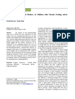 The Lived Experience of Mothers of Children With Chronic Feeding And