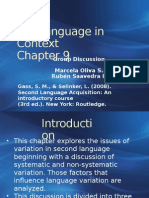 Interlanguage in Context Chapter 9