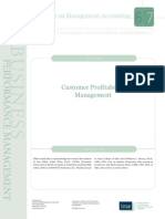Customer Profitability Management