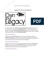 Virginia Beach Taekwondo ATA Tournament Registration Document Www.atakick