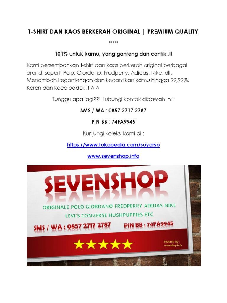 T Shirt Dan Kaos Berkerah Original Premium Quality