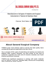 Manufacturer of Implant and Surgical Instrument