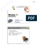 SVL Short Course Masodule 1 -- Introduction