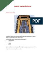 Clases de Sostenimiento minas subterraneas
