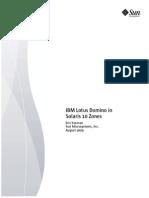 Domino on Solaris Zones