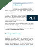 Credit Risk Appraisal of Lanka Banla