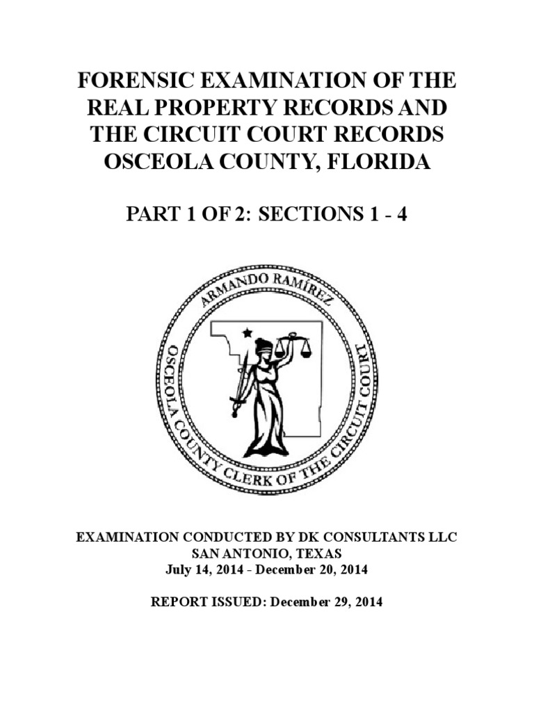Osceola County Real Property Records Forensic Examination Mortgage Wiring Instructions For Ocwen Loan Servicing Foreclosure