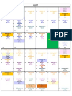 Training Calendar Jul