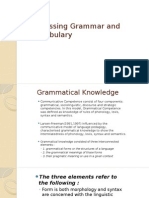Assessing Grammar and Vocabulary