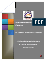 North Maharashshtra University Syllabus 2015-16  MBA - II
