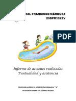 Puntualidad y Asistencia Informe