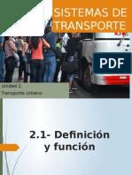 Unidad 2 Transporte Urbano 1