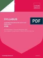 A Level Math 2016 Syllabus