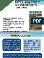 ANTECEDENTES   REMOTOS Y PRÓXIMOS DEL DERECHO LABORAL diapo.pptx