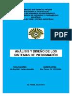 Informe 2 Análisis y Diseño de Los Sistemas de Información